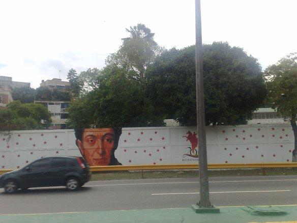 Mural Año Bicentenario de la Independecia de Venezuela Simón Bolívar Caracas